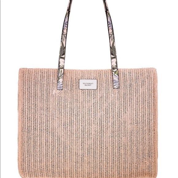 VICTORIA'S SECRET Woven Summer Tote Bag NWT